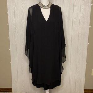 Black sheer flowing dress